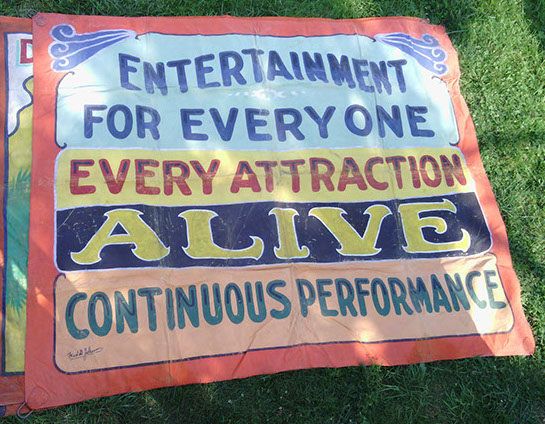 Fred Johnson Sideshow Banner For Sale